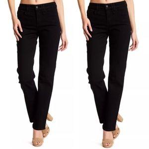 NYDJ Marilyn black straight leg jeans Sz 4 small
